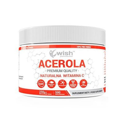 Wish pharmaceutica acerola natural vitamin c 250 g