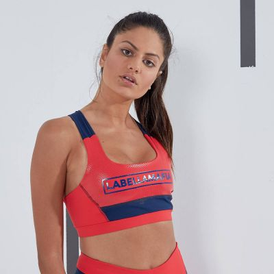 Top damski labellamafia color block top