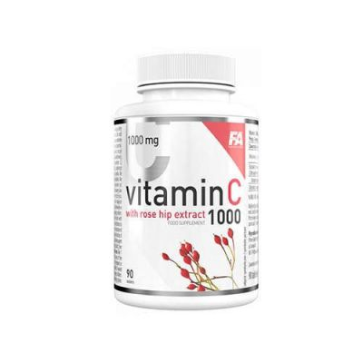 Fitness authority vitamin c 1000 with rose hip extract 90tab